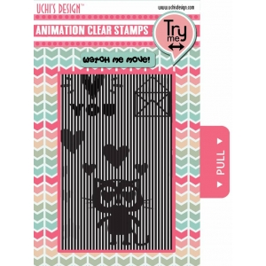Uchi's Design Animation Clear Stamp Loving Cat