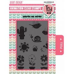 Uchi's Design Animation Clear Stamp Growing Garden
