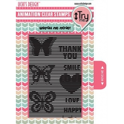 Uchi's Design Animation Clear Stamp Vertical Butterfly