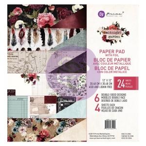 Prima Marketing Midnight Garden 12x12 Inch Paper Pad