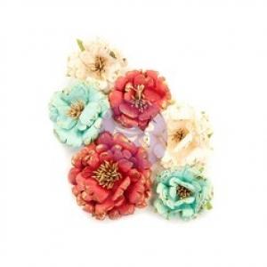 Prima Marketing Midnight Garden Flowers Pretty In Rouge