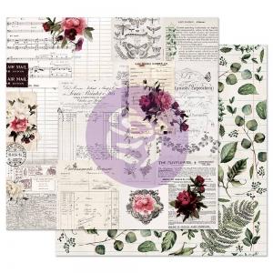 Prima Marketing Midnight Garden 12x12 Inch Sheet Rose Receipts