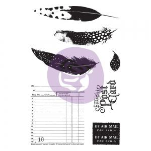 Prima Marketing Midnight Garden Cling Stamp & Stencil