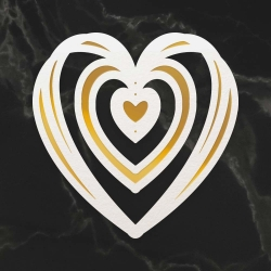 Couture Creations Intertwined Heart Mini Cut, Foil and Emboss Dies