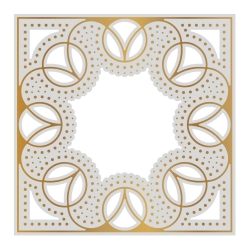 Couture Creations Cathedral Window Background Cut, Foil and Emboss Die
