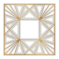 Couture Creations Faceted Frame Background Cut, Foil and Emboss Die