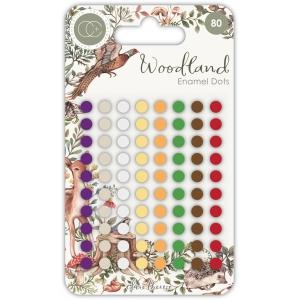 Craft Consortium Woodland Adhesive Enamel Dots