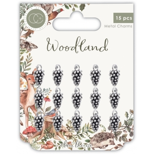 Craft Consortium Woodland Metal Charms Silver Pine Comb