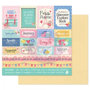 Prima Marketing Traveling Girl 12x12 Inch Paper Pack Travel Girl ( per stuk )