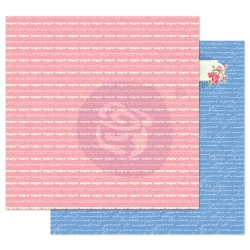 Prima Marketing Traveling Girl 12x12 Inch Paper Pack Lovely Borders ( per stuk )