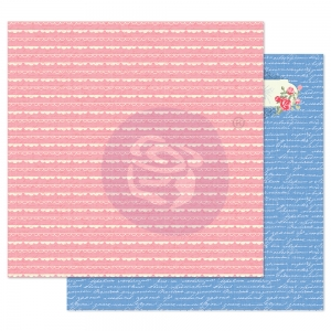 Prima Marketing Traveling Girl 12x12 Inch Paper Pack Lovely Borders ( per stuk )
