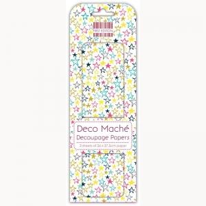 First Edition FSC Deco Mache - Multi Stars