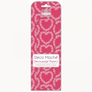First Edition FSC Deco Mache - Floral Hearts