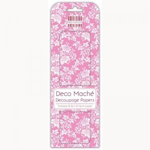 First Edition FSC Deco Mache - Pink Foliage