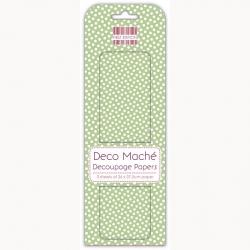 First Edition FSC Deco Mache - Green Polka