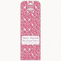 First Edition FSC Deco Mache - Red Lace