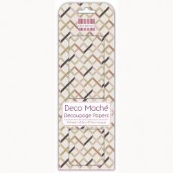First Edition FSC Deco Mache - Zig Zag Geometric