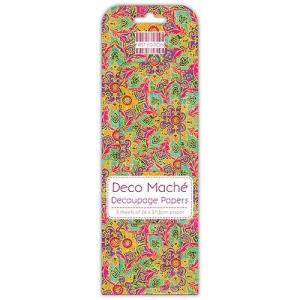 First Edition FSC Deco Mache Paisly Flower