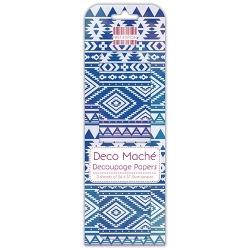 First Edition FSC Deco Mache Blue Aztec