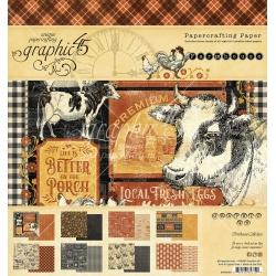 Graphic 45 Farmhouse 8x8 Inch Paper Pad (4502058)