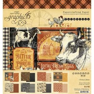 Graphic 45 Farmhouse 8x8 Inch Paper Pad