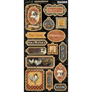 Graphic 45 Farmhouse Chipboard