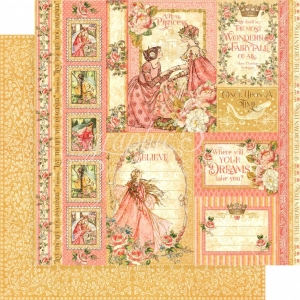 Graphic 45 Princess - Beautiful Maiden (losse bladen)