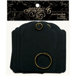 Graphic 45 Artist Trading Tags Black (4500980)