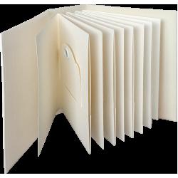 Graphic 45 ATC Rectangle Tag & Pocket Album Ivory (4501813)