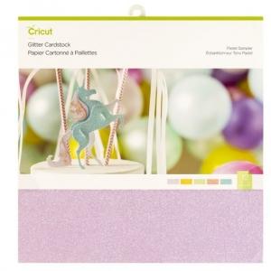 Cricut Glitter Cardstock Pastel Sampler 12x12 Inch