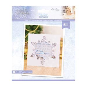 Crafter's Companion Glittering Snowflakes Metal Die Frosted Window