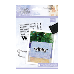 Crafter's Companion Glittering Snowflakes Stamp & Die Winter Solstice
