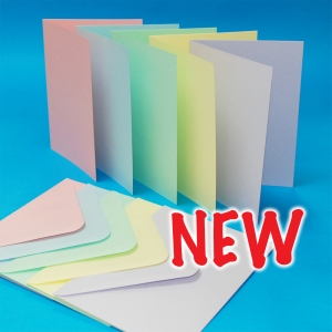 Craft UK Cards & Envelopes Assorted Pastel 5x7 Inch