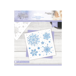 Crafter's Companion Glittering Snowflakes 6x6 Inch Stencil Snow Is Falling