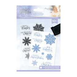 Crafter's Companion Glittering Snowflakes A6 Clear Stamp Chase The Snowflakes