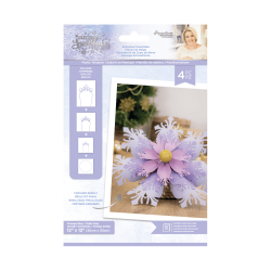 Crafter's Companion Glittering Snowflakes Plastic Template Statement Snowflake