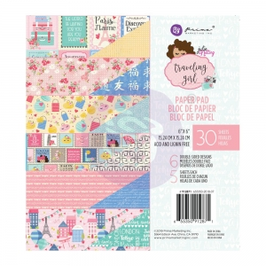 Prima Marketing Traveling Girl 6x6 Inch Paper Pad