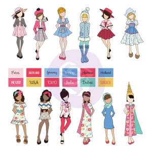 Prima Marketing Traveling Girl Doll Ephemera