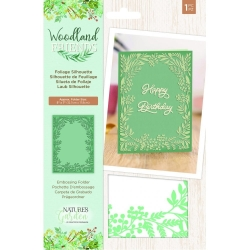 Crafter's Companion Woodland Friends Embossing Folder Foliage Silhouette