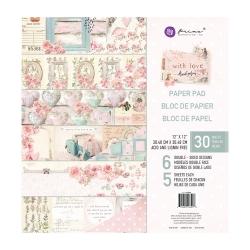 Prima Marketing With Love 12x12 Inch Paper Pad