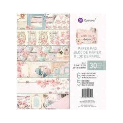 Prima Marketing With Love 8x8 Inch Paper Pad