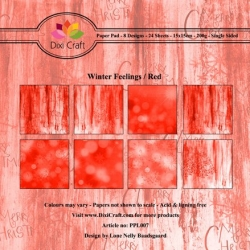 Dixi Craft Winter Feelings Red 6x6 Inch Paper Pad