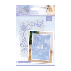 Crafter's Companion Glittering Snowflakes 5x7 Inch Embossing Folder Touch of Winter