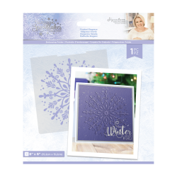 Crafter's Companion Glittering Snowflakes 6x6 Inch Embossing Folder Frosted Elegance