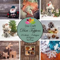 Dixi Craft Dixi Toppers 9x9cm Christmas Time