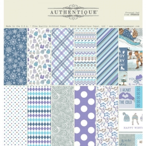 Authentique Frosted 12x12 Inch Paper Pad