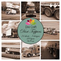 Dixi Craft Trucks Bruin 9x9 cm Toppers