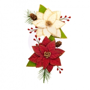 Prima Marketing Christmas In The Country Flowers Sleigh Ride
