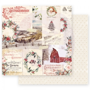 Prima Marketing Christmas In The Country 12x12 Inch Sheet Christmas Joy  10 sts