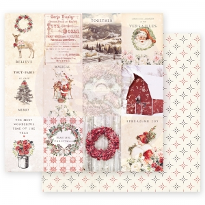 Prima Marketing Christmas In The Country 12x12 Inch Sheet Spreading Christmas Magic  10 sts